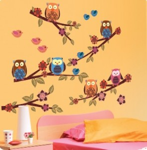 wall decals owls 295x300 Open Up Your Decorating Options with Wall Decals