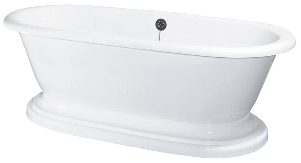 Elizabethan Classics ECUSADP Acrylic Dual Tub on Plinth with Tub Rim Holes