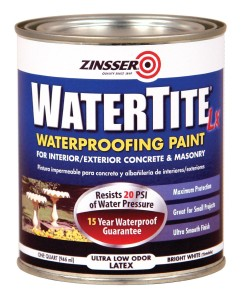 Rust-Oleum Zinsser 5024 1-Quart Watertite-Lx Latex Mold and Mildew Proof Paint