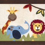 Jungle Bathroom Rug for Kids
