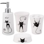 Jovi Home Cats 4 Piece Bath Accessory Set