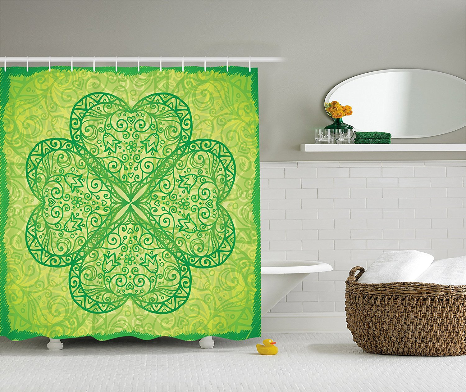 Green Irish Shamrock St. Patrick's Day Bathroom Decor
